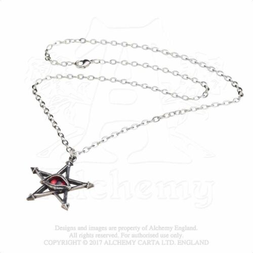 Alchemy Gothic Red Curse Pewter Pendant BRAND NEW