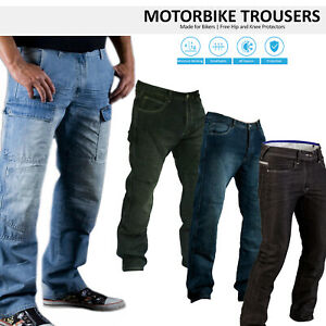 Classic-Men-039-s-Motorbike-Motorcycle-Denim-Trousers-Jeans-with-Protective-Lining