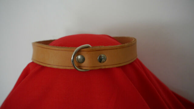 Karlie Rondo Halsband Lederhalsband - Natur - 47 cm / 18 mm