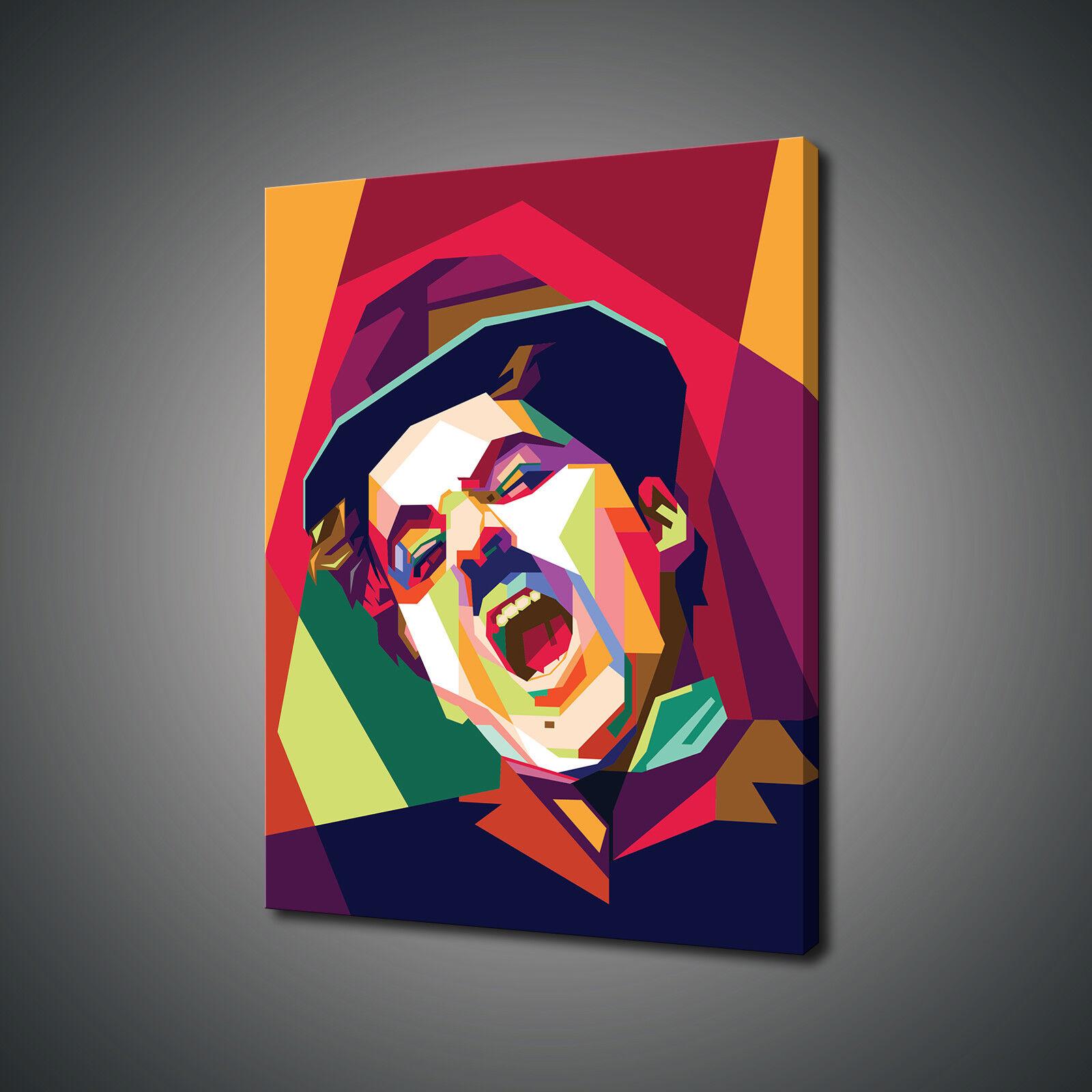 Charlie Chaplin pop art canvas print PICTURE Wall Art Gratuito UK Consegna