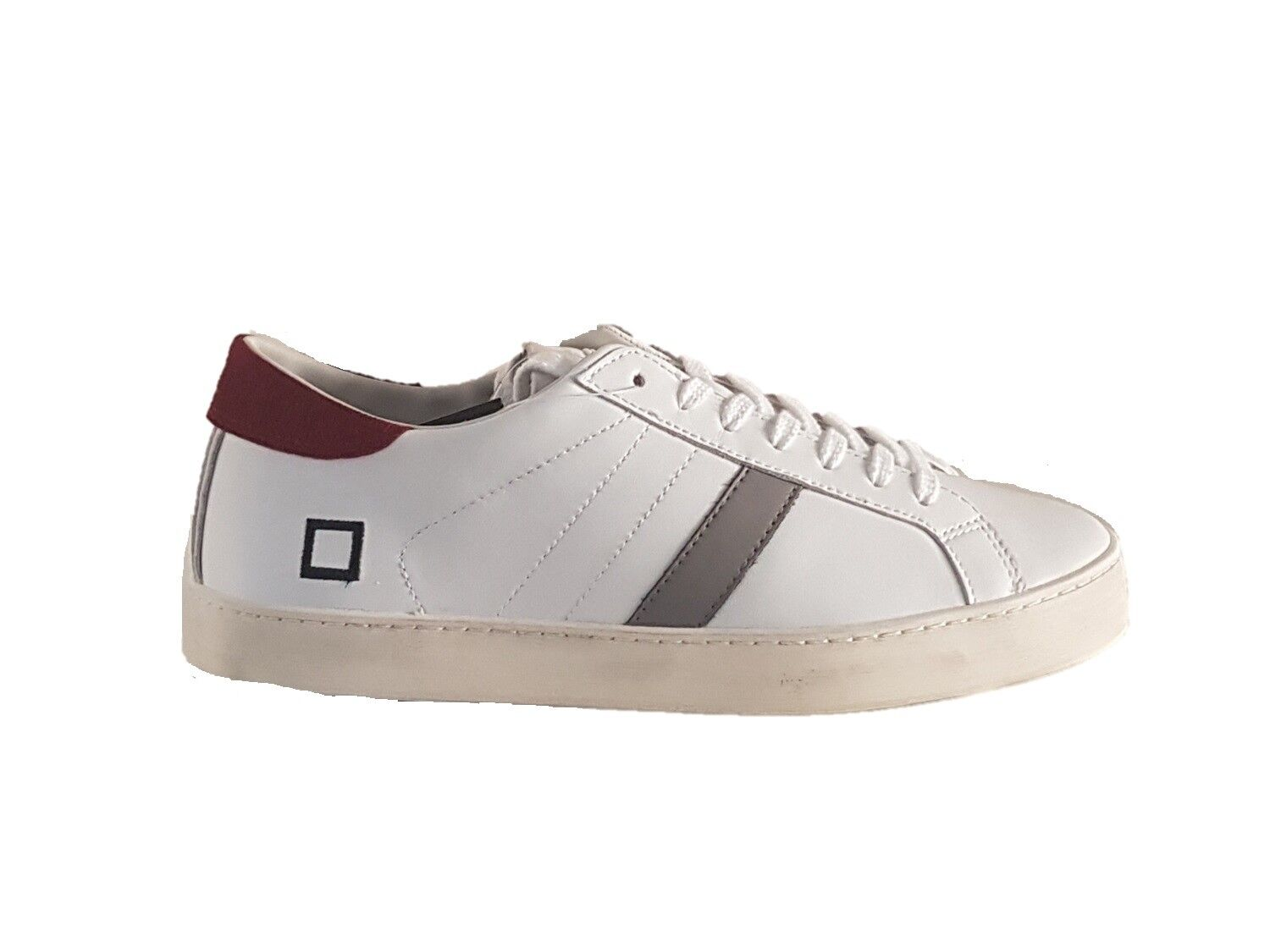 d.a.t.e. sneakers uomo red hill low calf white red uomo n°45 09299c