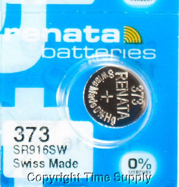 2 x Renata 373 Pila Batteria Orologio Mercury Free Silver Oxide SR916SW 1.55V