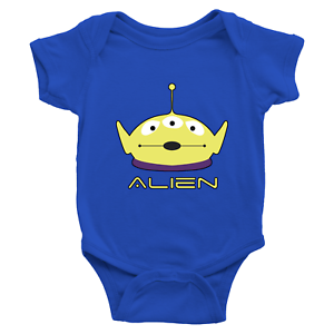 Infant-Baby-Rib-Bodysuit-Jumpsuit-Babysuits-Clothes-Gift-Toy-Story-Alien-Green