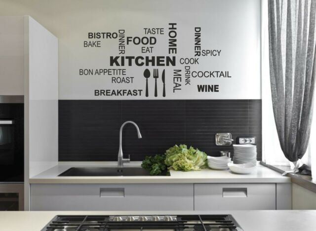 Kitchen Wall Quote Stickers Cafe Vinyl Art Decals decor DIY