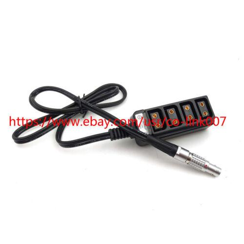D-tap splitter Tital 2pin a 4 Puertos D-tap hembra HUB de alimentación Cable en espiral para Arri