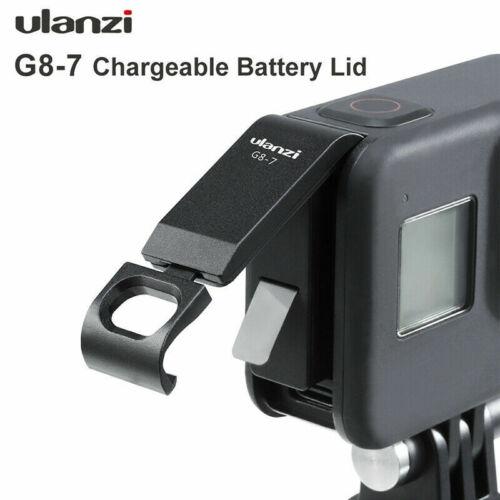 Para Gopro Hero 8 Ulanzi G8-7 aluminio cubierta de batería con puerto de tipo C chaularging
