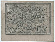 Carte ancienne MERCATOR HONDIUS map 1630 TRANSYLVANIE Roumanie Siebenbürgen 131