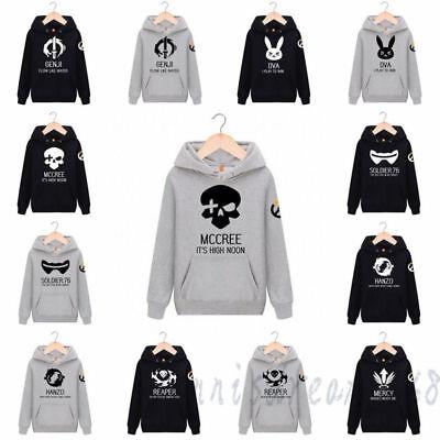 Overwatch OW DVA Genji Reaper Tops Unisex Sweatshirt OW Pullover Coat Hoodie