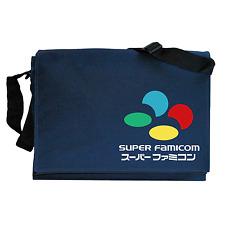 Super Nintendo Famicom SNES inspired Navy Blue Messenger Shoulder Bag