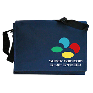 SNES Japanese Inspired Navy Blue Messenger Shoulder Bag