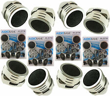 4 Pairs of New Model Chrome 1200W Total Super High Frequency Mini Car Tweeters