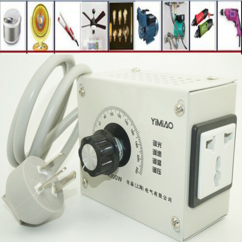 Voltage Regulator Motor Speed Controllor Light Dimmer Thermostat 4000W AC 110V