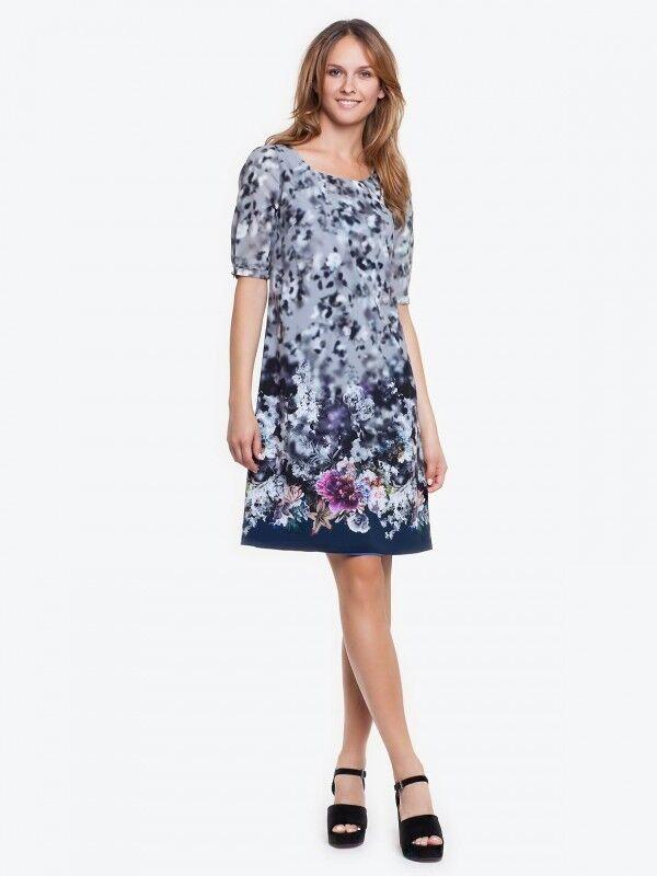 Auffälliges Damenkleid Coctailkleid  Elegant Knielang in schönen Farben Gr. 48