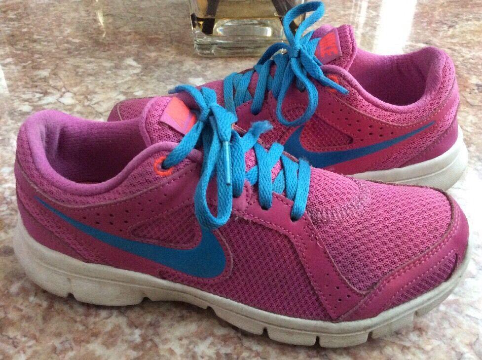 Nike Flex Running Experience Run 2 Women's Pink Blue Running Flex Shoes Size 6.5 99ecac