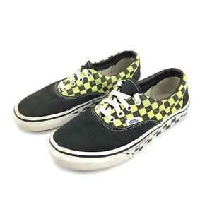 b3cfa696ef6 Image is loading Vans-Youth-3-5-Green-Black-Checkered-Lace-