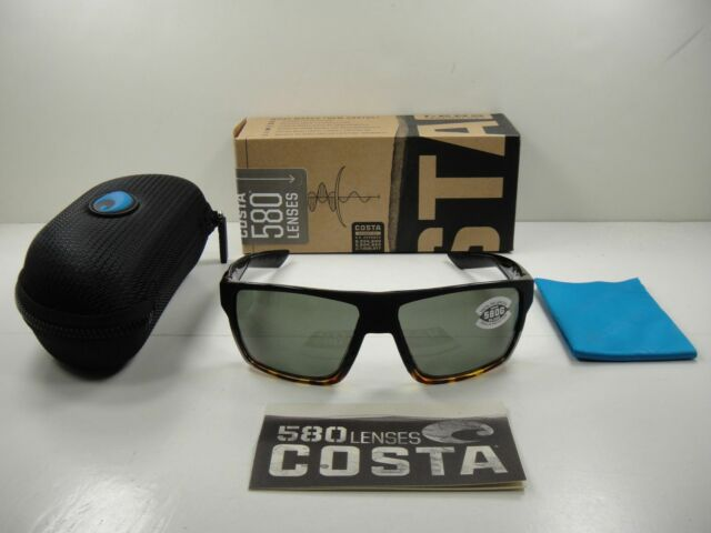 45379bb7eb COSTA DEL MAR BLOKE POLARIZED BLK181 OGGLP SUNGLASSES BLACK GRAY GLASS 580G