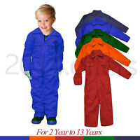 Poly cotton Unisex Childrens Kids Boiler suit Coveralls Overalls kids dungarees