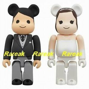 Medicom-Be-rbrick-2012-The-wedding-100-A-Groom-amp-Bride-2P-Bearbrick-set-2pcs