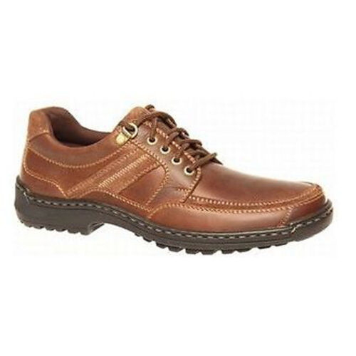 Mens HUSH PUPPIES ALBATROSS Brown FORMAL//DRESS//WORK//CASUAL//LEATHER SHOES WIDE