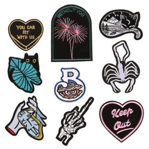 Punk-Embroidery-Sew-On-Iron-On-Patch-Clothes-Badge-Fabric-Applique-Craft-Sti-EB