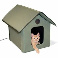 Outdoor Cat House Winter Heated Heater Shelter Pet Cave Waterproof Bed Warmer