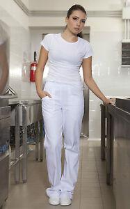 Pantaloni cuoco donna chef pizzaiolo cucina da lavoro pantalaccio abbigliamento ebay - Abbigliamento da cucina ...