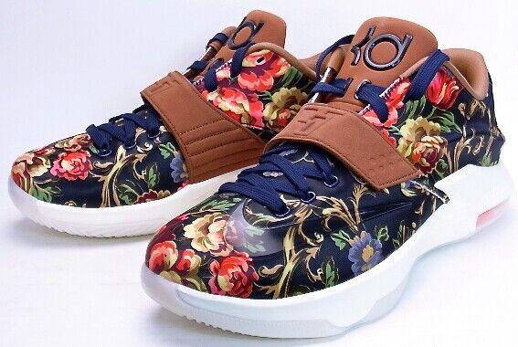 Nike KD VII EXT Floral QS UK 9.5 Bleu marine noir-noisette