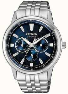 CITIZEN ECO DRIVE BLUE DIAL MEN'S WATCH BU2071-87L 44MM New with Tags