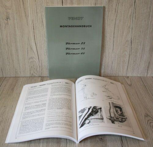Fendt Werkstatthandbuch für Traktor Farmer 2S 3S 4S .