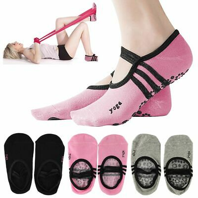 1 3pairs Women Men Yoga Pilates Ballet Exercise Grips Cotton Non Slip Skid Socks Ebay