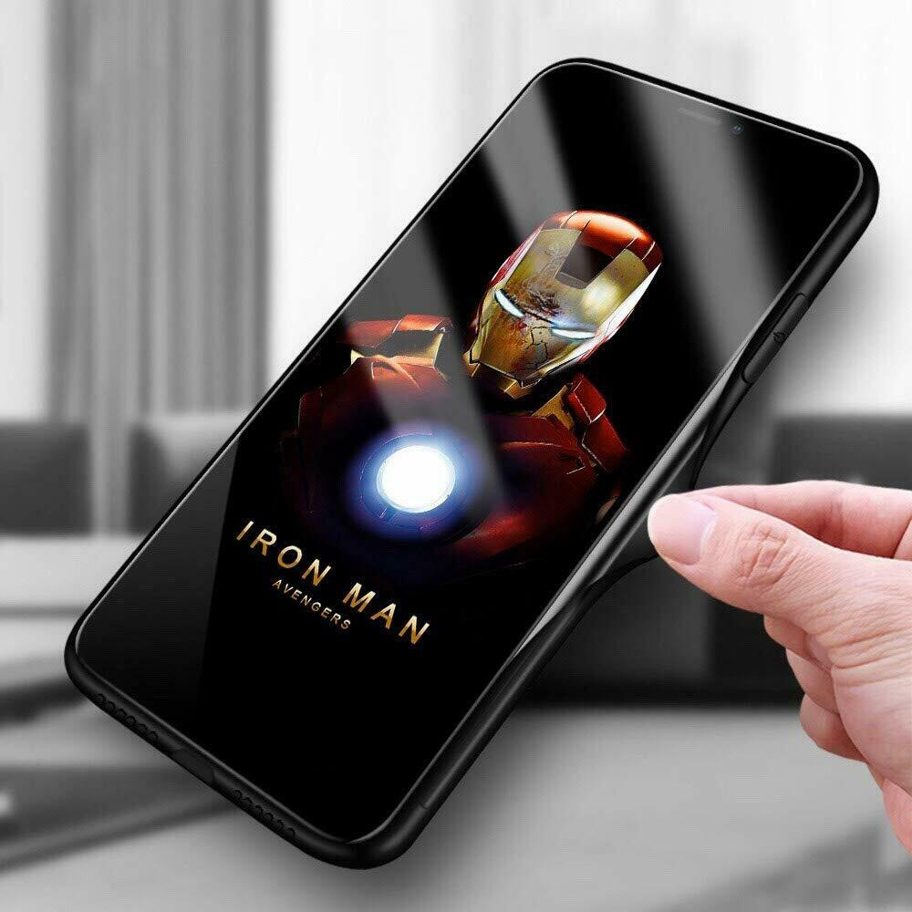 MARVEL Rear Glass TPU Bumper Case iPhone11 Iron Man Gift