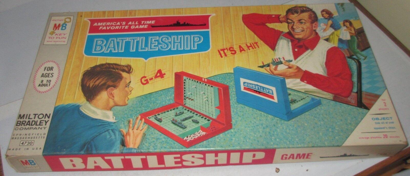 VINTAGE ORIGINAL 1967 Cuirassé Board Game Used sexiste COVER RARE Family Fun