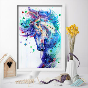 Beau Details About 1P Beautiful Watercolour Horses Wall Art Poster And Print  Canvas Painting