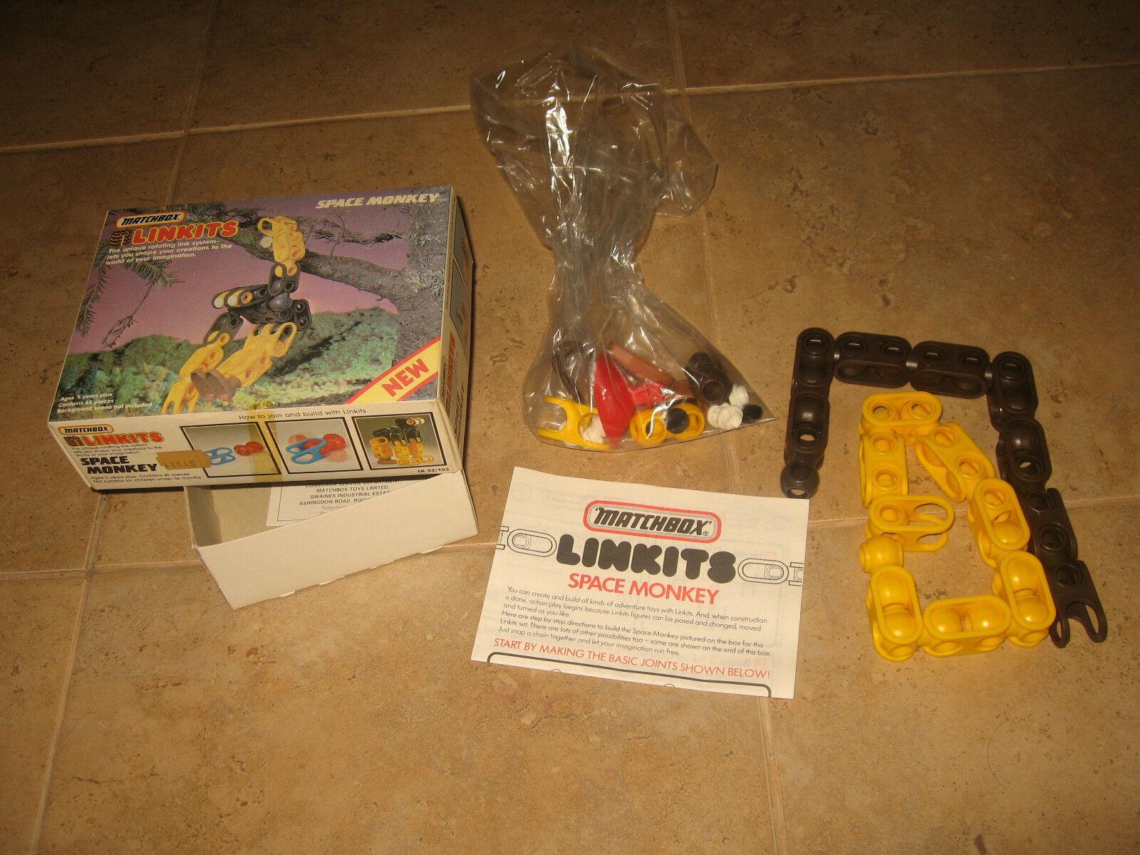 "Amazing rare rare rare ""Space Monkey Linkits Matchbox"" made in 1984  Limited    5092ba"