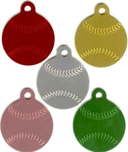 100 Base Balls Anodized Aluminum Tags Laser Engravable Baseballs