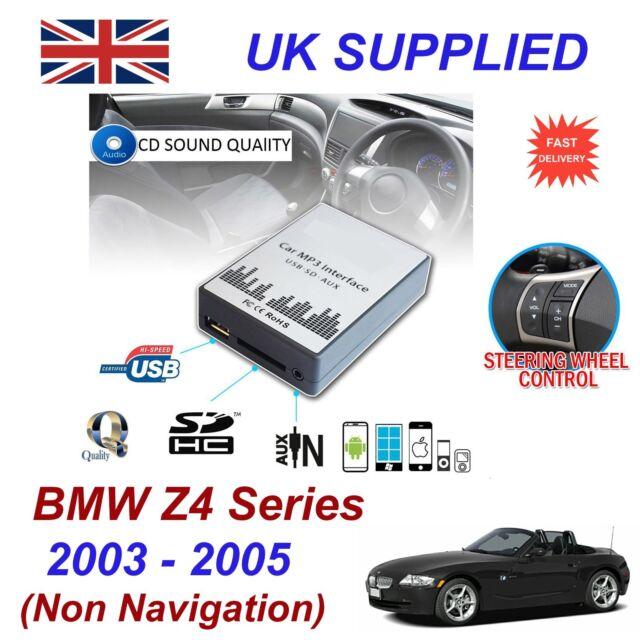 para BMW Z4 MP3 SD USB CD ENTRADA AUX adaptador de audio digital Cambiador Cd