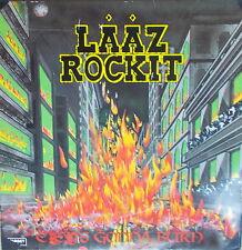LP Laaz Rockit – City's Gonna Burn,Vinyl VG+,cleaned,Steamhammer SH 0031 von 85