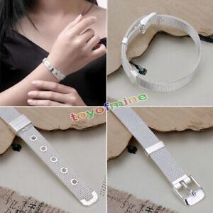 Damen-Elegant-Armreif-925-Silber-plattiert-Armband-Armkette-Schmuck-Geschenk