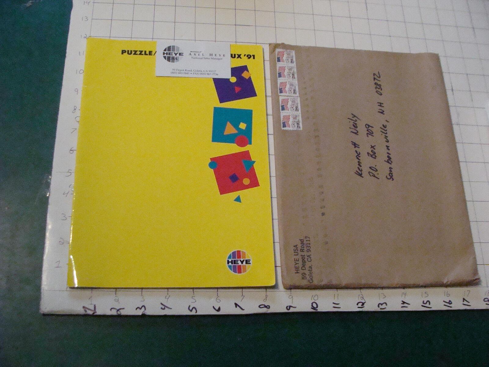 Original HEYE USA puzzle catalog in envelope  30pgs - 1991 - v sautoce catalog  vendita calda
