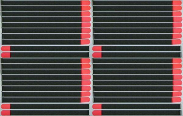 100% Kwaliteit 40 X Kabelbinder Kabelklett 80 Cm X 50 Mm Neon Rot Fk Klettband Klettkabelbinder Hoge Veiligheid