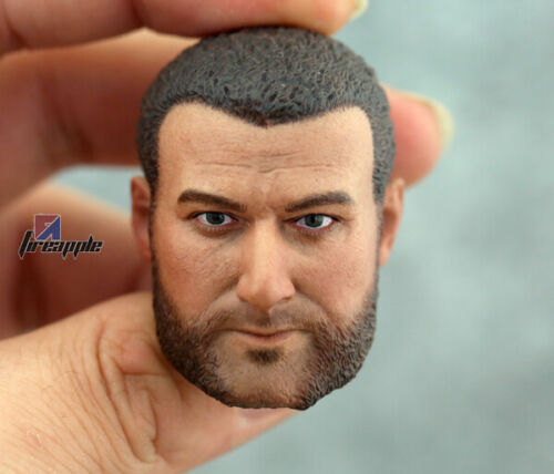 1//6 Scale Calm Face Victor Creed Male Head Carving Sabretooth Head Sculpt Model