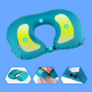 Portable-Air-Travel-Pillow-Self-Inflatable-U-Shaped-Bed-Cushion-Neck-Camping-hrr