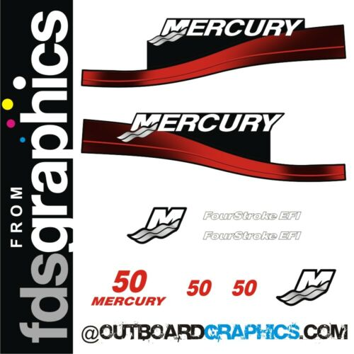 Mercury 50hp four stroke EFI outboard decals//sticker kit