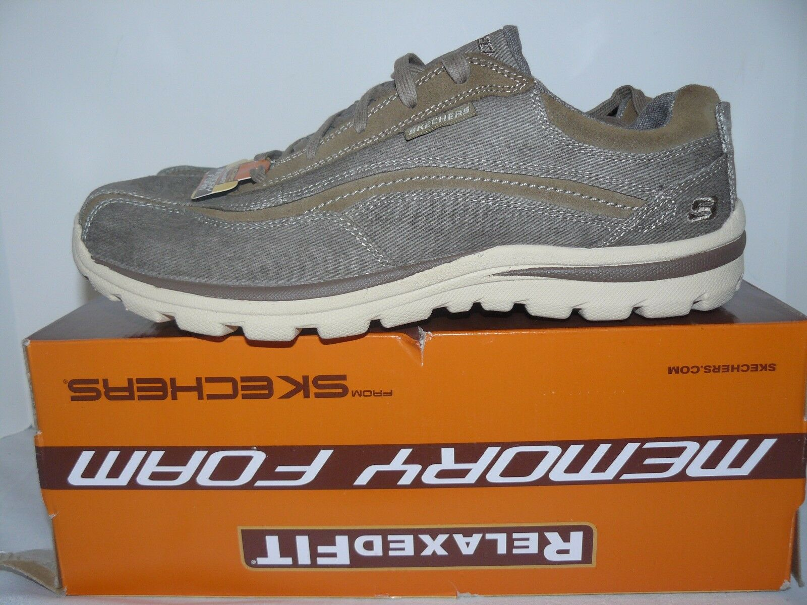 NIB Skechers Mens Superior Monavo Size 9.5, 10, 10.5 Athletic Shoes Khaki