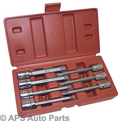 """7pc 3/8"""" Drive Long Torx Bit Star Set  Socket T25 T30 T40 T45 T50 T55 T60 New"""