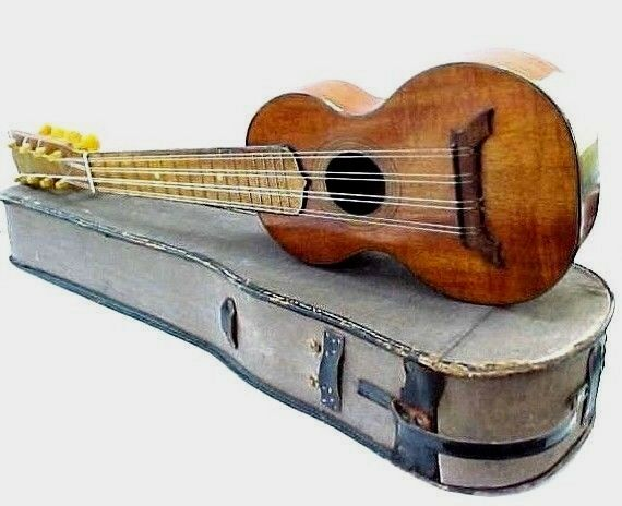 1920's S.S.Stewart THE MELE TAROPATCH 8 String Koa Ukulele by B&J NY