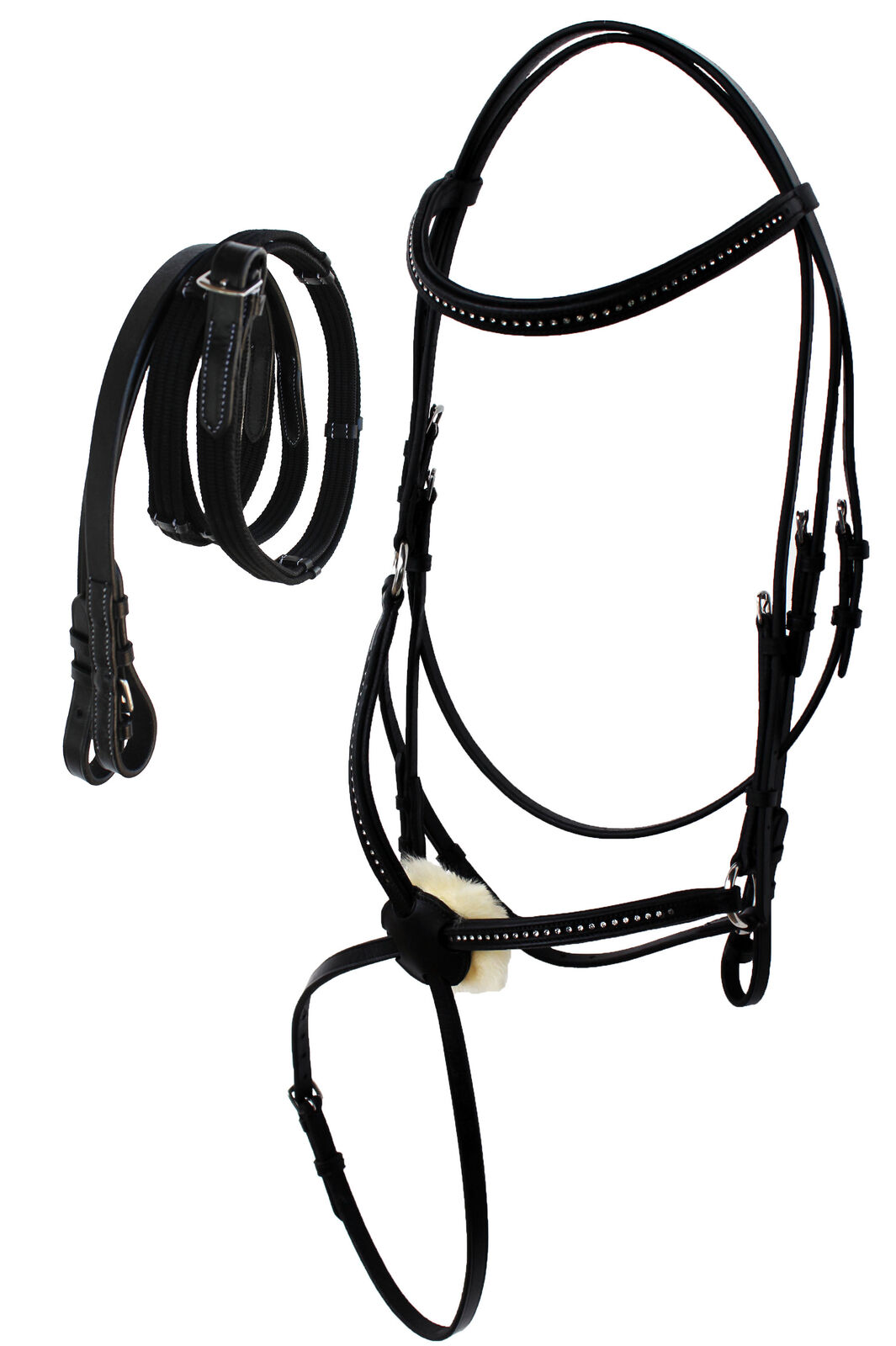 English All-Purpose Trail Pleasure Leather Bridle Reins 805EB05