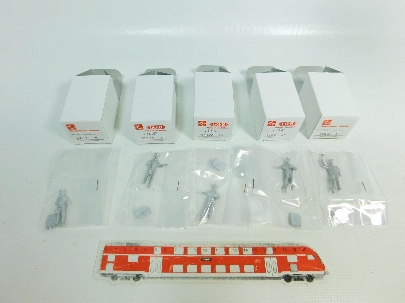 Br273-0, 5 x lubosch wimmer scale 0 sbb-Figur (tin)  301+302+305+306