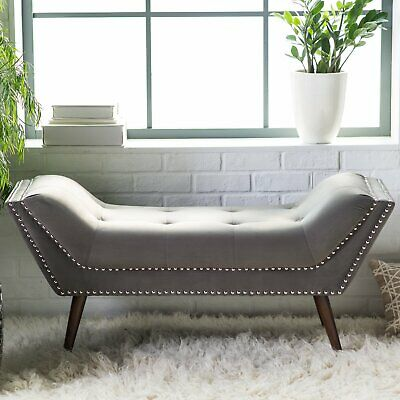 Modern Bedroom Bench Entryway Livingroom Bed Upholstered Welcome Seat  Furniture | eBay