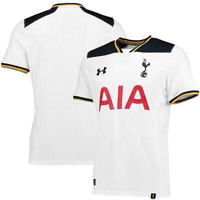 New Tottenham Hotspurs 2016 17 Under Armour White Home Football Shirt Boys Xl Ebay